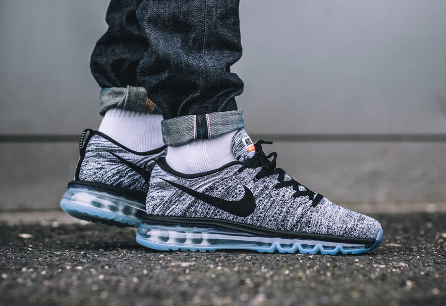 images basket nike flyknit air max oreo black