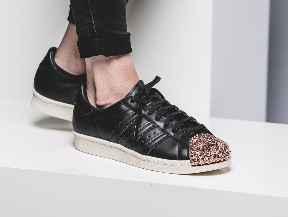 acheter Adidas Superstar 80s Metal Toe TF W Black Bronze Copper Metallic (2)