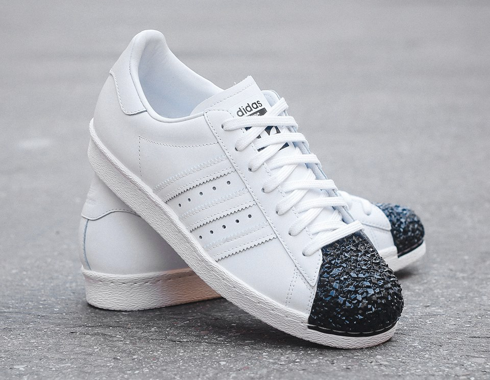 Adidas Superstar 80's Metal Toe TF W White Silver Metallic (1)