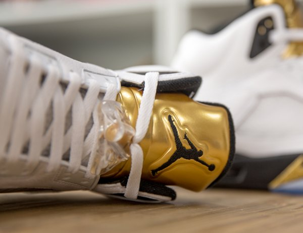 Air Jordan 5 Retro 'White Metallic Gold'