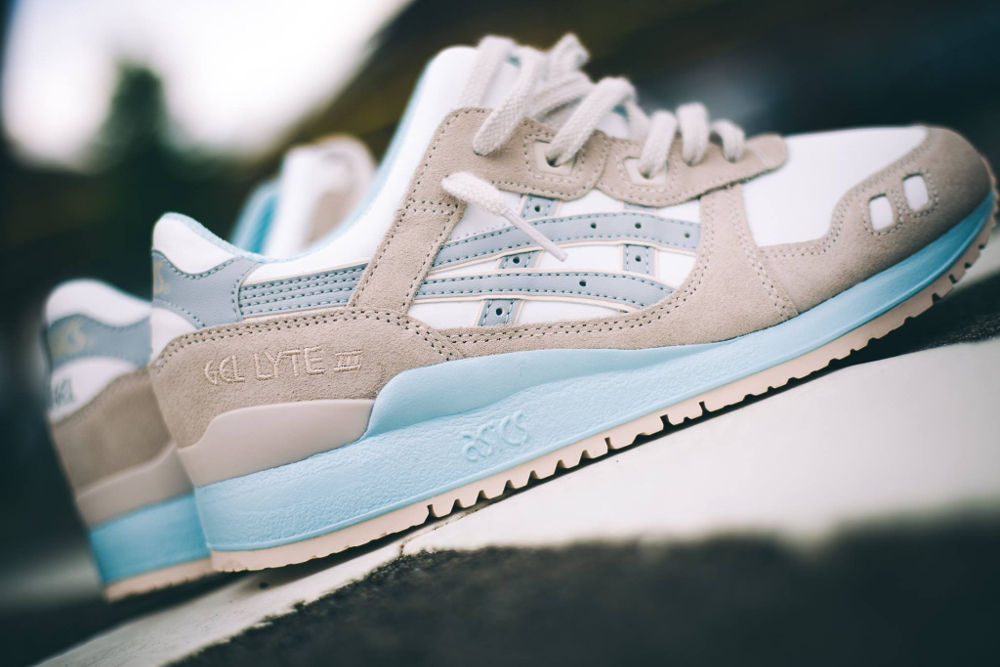 Asics Gel Lyte III White Light Grey Crystal Blue (2)
