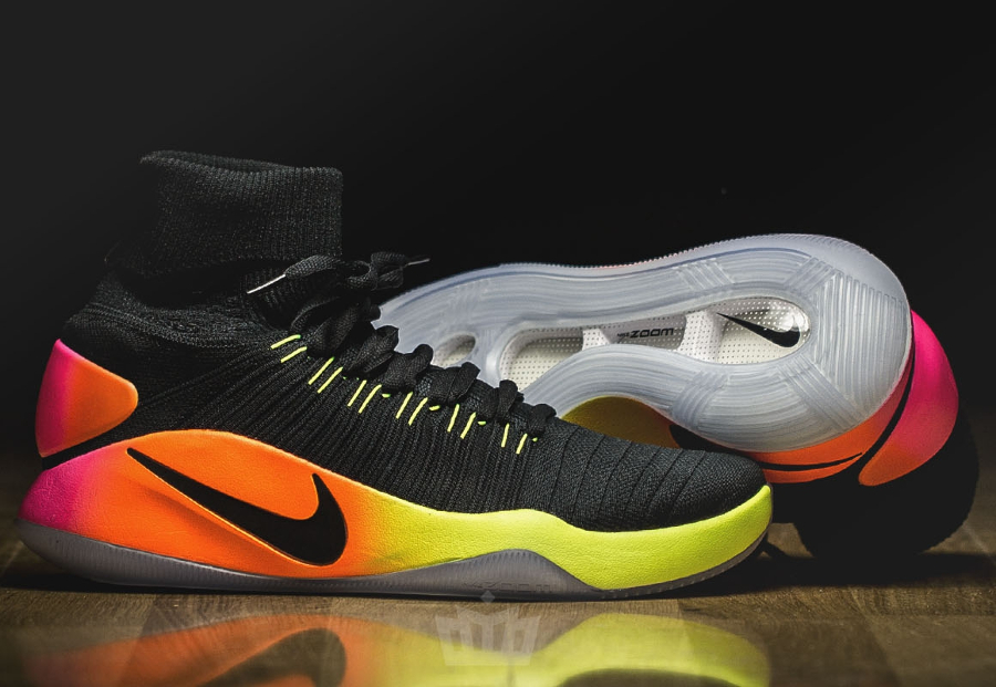 Chaussure Nike Hyperdunk 2016 Flyknit Black Volt Orange (3)