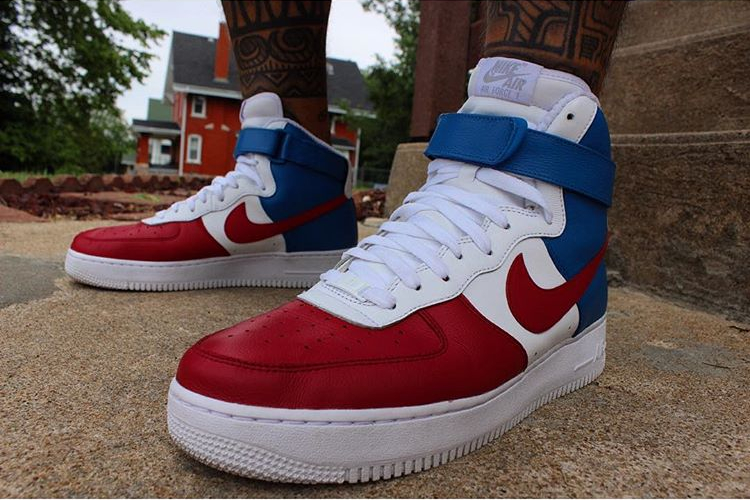 Nike Air Force 1 High ID Tricolor France - @eduardobermudezgram