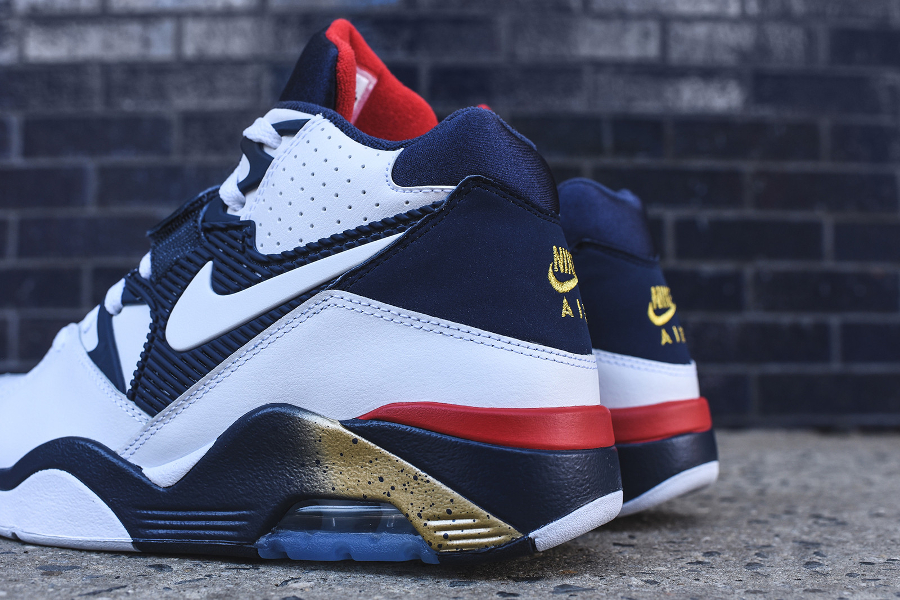 Nike Air Force 180 White Midnight Navy-Metallic Gold-Varsity Red Retro 2016 (1)
