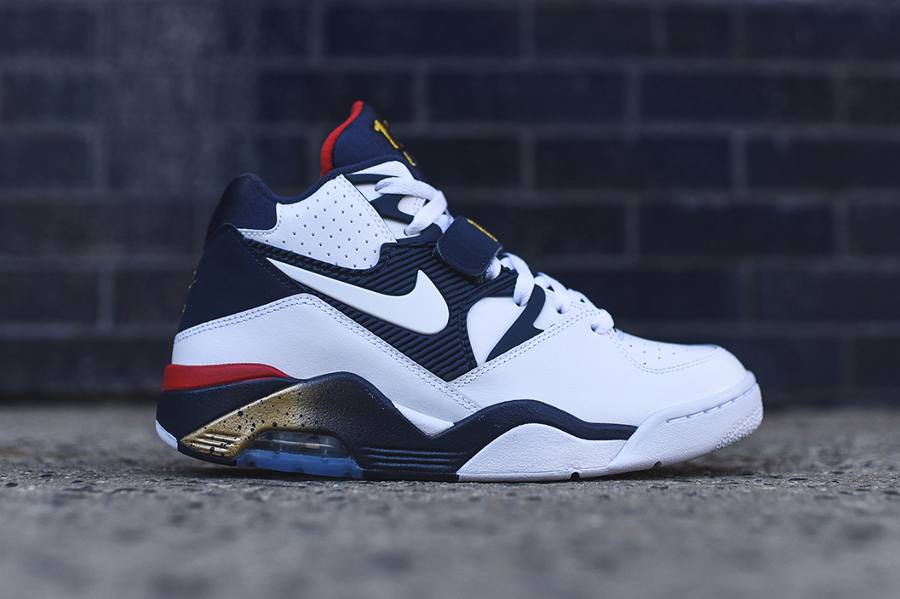 Nike Air Force 180 White Midnight Navy-Metallic Gold-Varsity Red Retro 2016 (3)