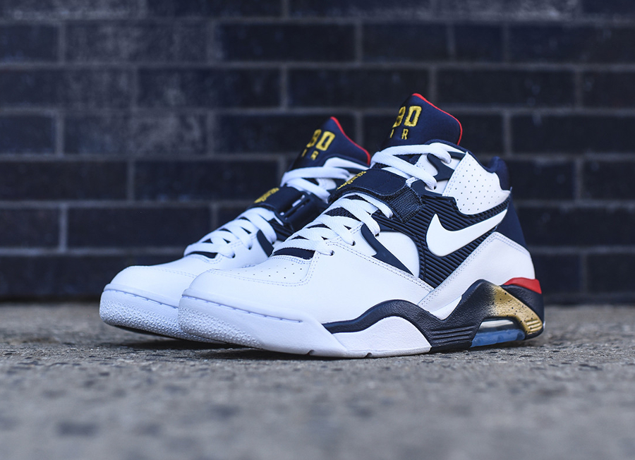 Nike Air Force 180 White Midnight Navy-Metallic Gold-Varsity Red Retro 2016 (4)