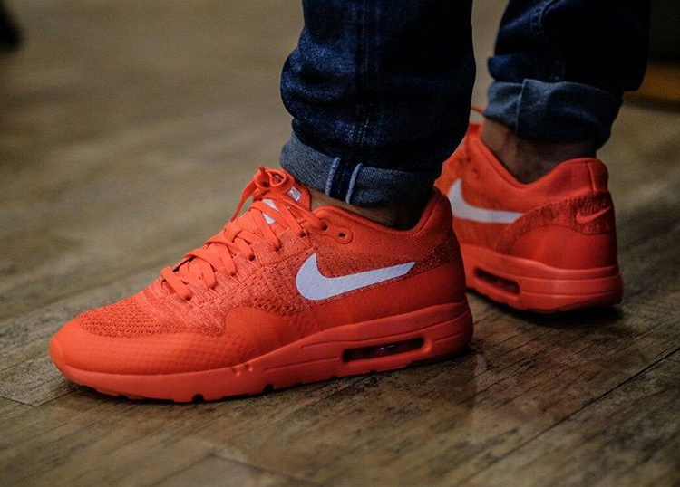 acheter chaussure Nike Air Max 1 Ultra Flyknit rouge (Bright