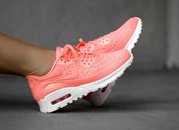 acheter basket Nike Wmns Air Max 90 Ultra Plush Atomic Pink (rose saumon) (