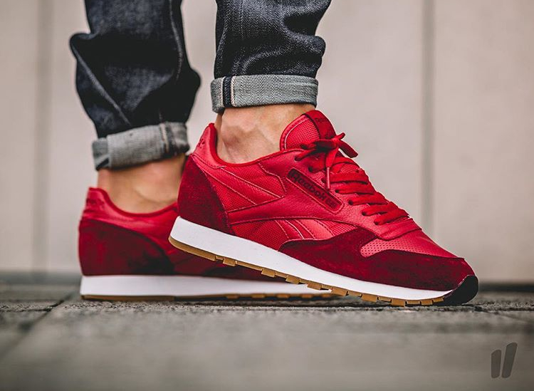 Reebok Classic Leather Perfect Split (Flash Red Merlot White-Gum) (1)