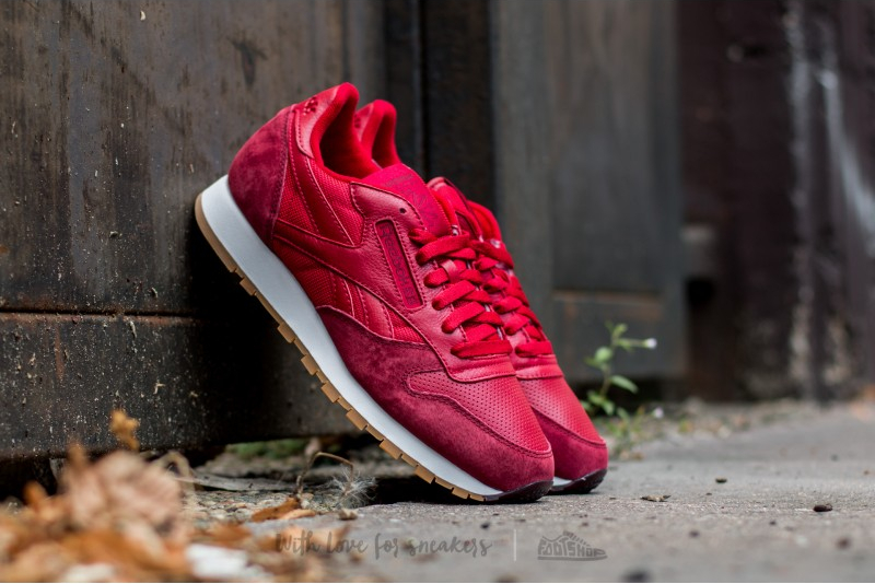 Reebok Classic Leather Perfect Split (Flash Red Merlot White-Gum) (2)