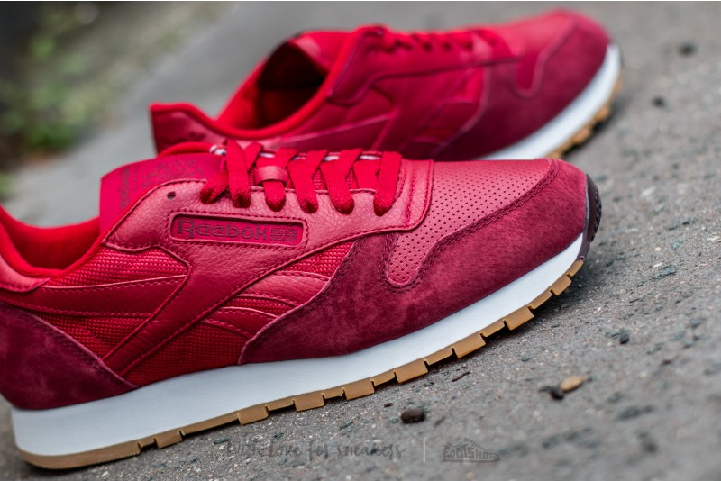 Reebok Classic Leather Perfect Split (Flash Red Merlot White-Gum) (3)