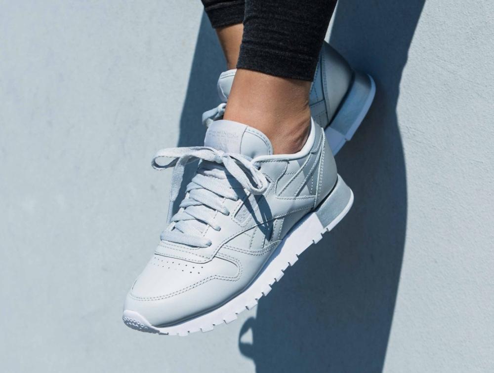 acheter chaussure Reebok Wmns Classic Leather Matte Shine Grey Gris (femme) (1)