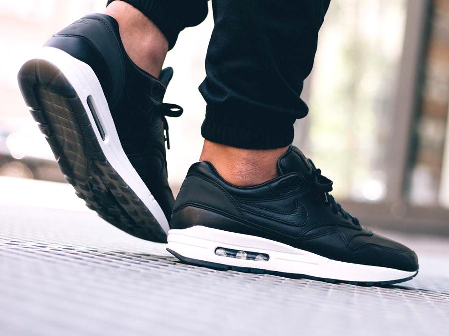 acheter NikeLab Air Max 1 Deluxe Pinnacle Black (noire)