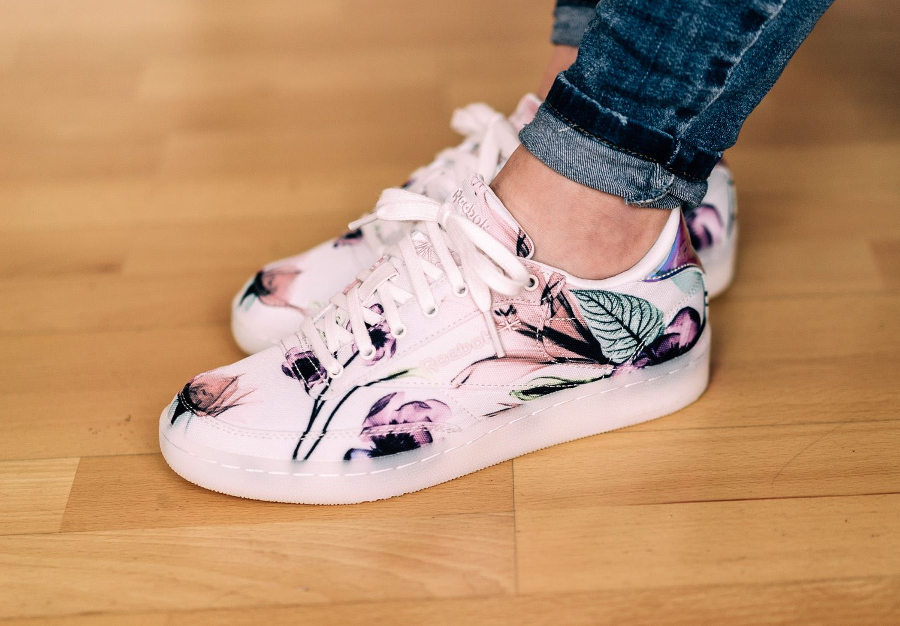 acheter Reebok Club C 85 Floral White Porcelain Pink (femme) (1-1)