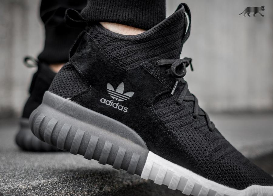 acheter basket Adidas Tubular X Primeknit Core Black (semelle translucide) (2)