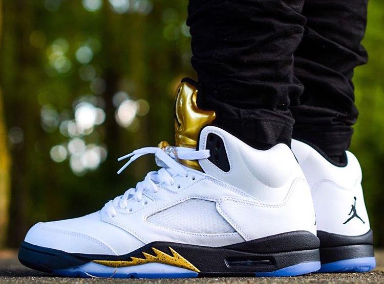 acheter basket Air Jordan 5 Olympic Golden Moments (1)