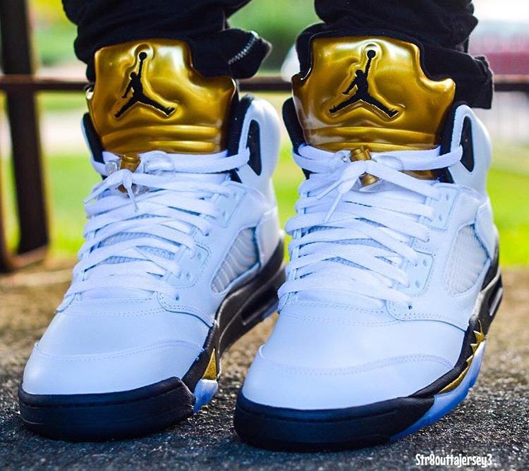 acheter basket Air Jordan 5 Olympic Golden Moments (3)