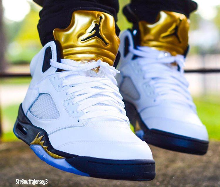 acheter basket Air Jordan 5 Olympic Golden Moments (4)