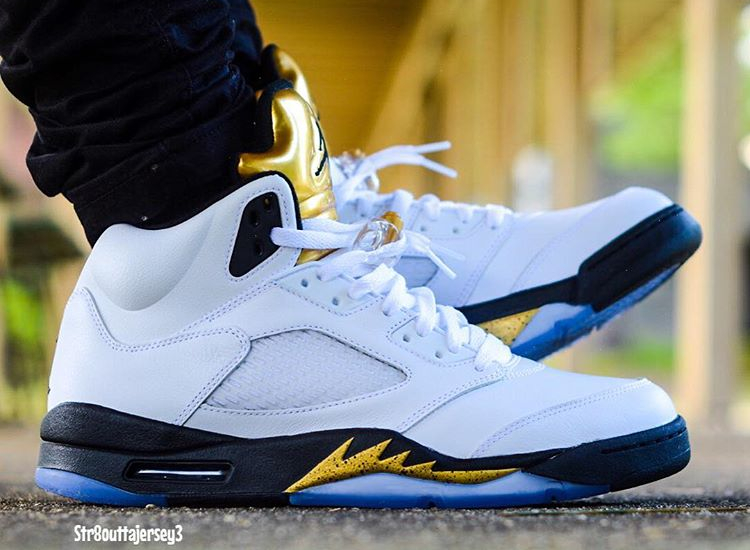 acheter basket Air Jordan 5 Olympic Golden Moments (5)
