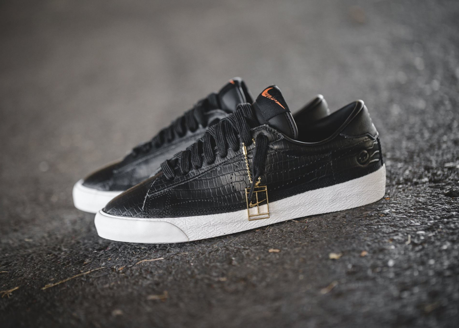 acheter basket Fragment x NikeLab Zoom Tennis Classic Black Croc (noir)