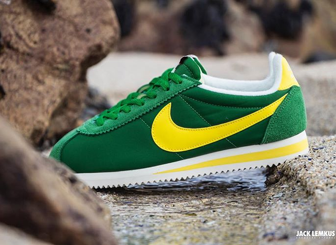 acheter basket Nike Cortez Nylon AW Pine Green Optic Yellow (1)