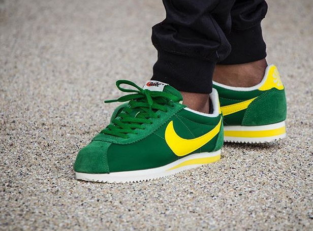 acheter basket Nike Cortez Nylon AW Pine Green Optic Yellow (2)