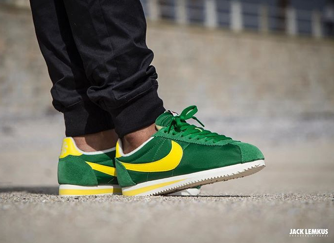 acheter basket Nike Cortez Nylon AW Pine Green Optic Yellow (3)