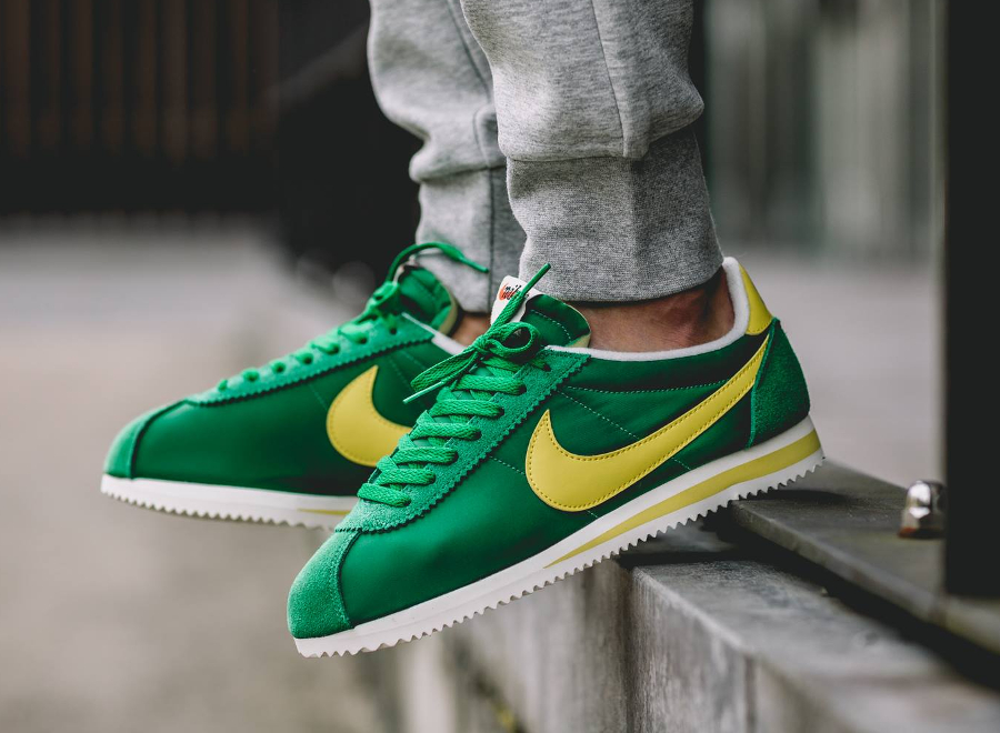 acheter basket Nike Cortez Nylon AW Pine Green Optic Yellow (4)