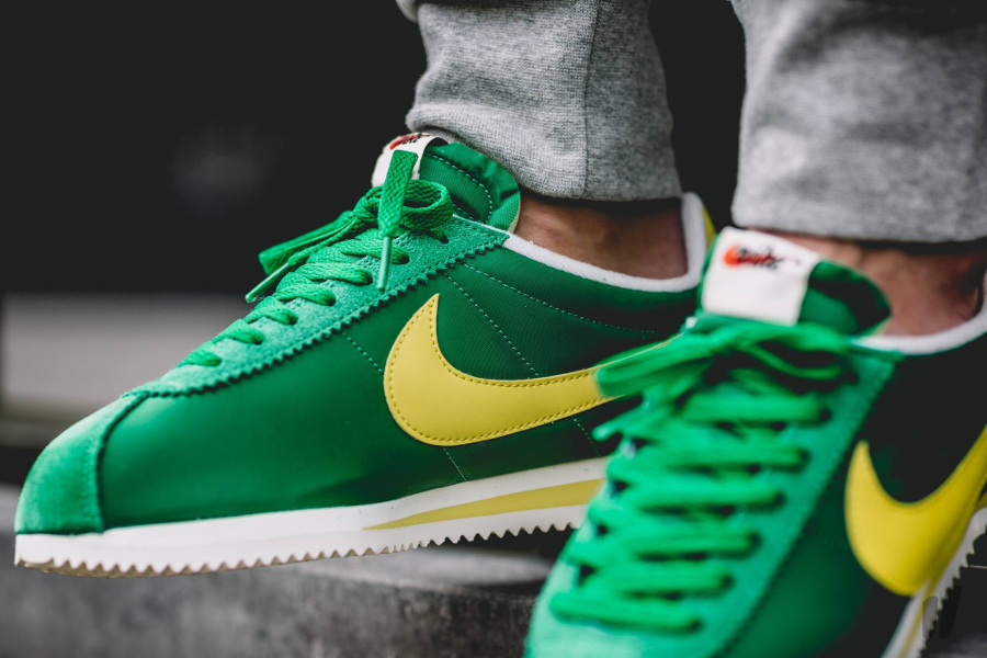 acheter basket Nike Cortez Nylon AW Pine Green Optic Yellow (5)