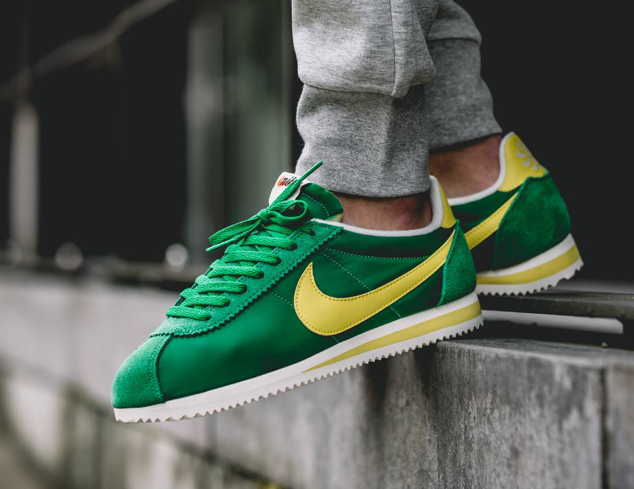 acheter basket Nike Cortez Nylon AW Pine Green Optic Yellow (6)