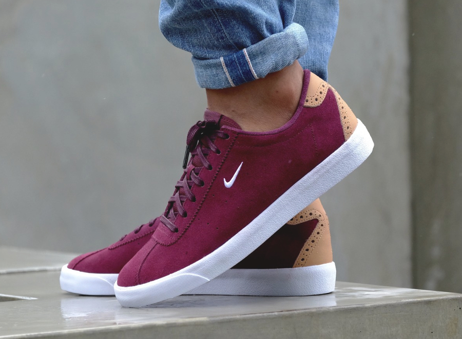 26b545a73968 acheter basket Nike Match Classic Suede PRM Brogue Night Maroon Vachetta  Tan (2)