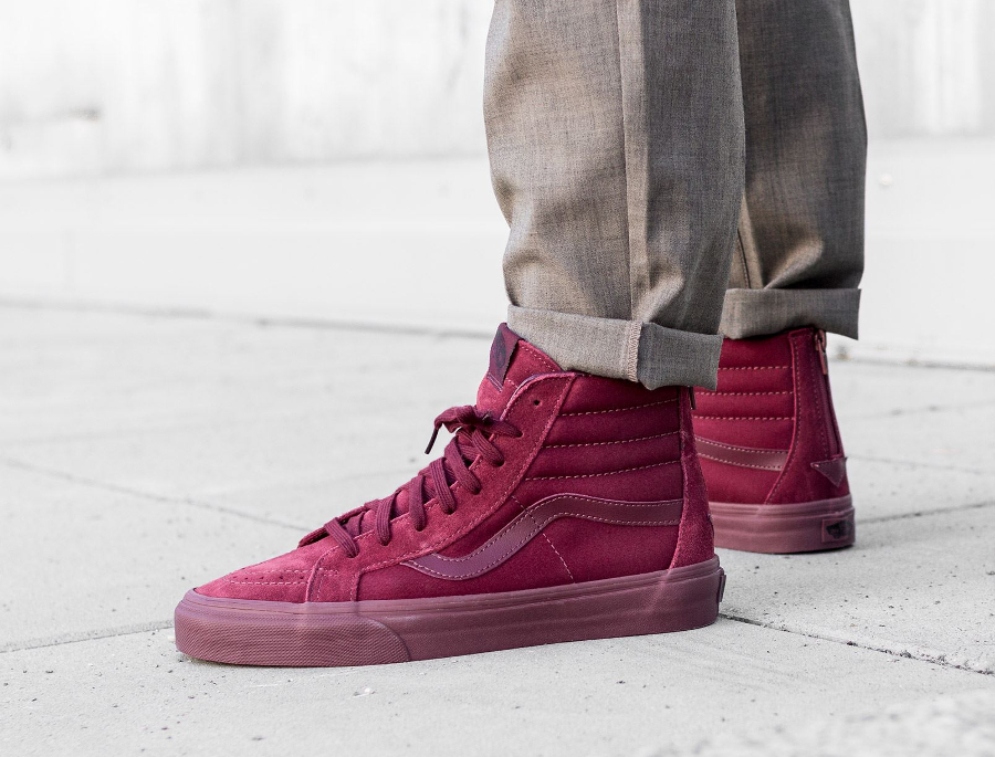 acheter basket Vans SK8 Reissue Zip Mono Port Royal (Bordeaux) (1)