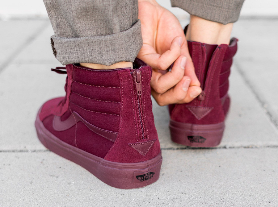 acheter basket Vans SK8 Reissue Zip Mono Port Royal (Bordeaux) (2)