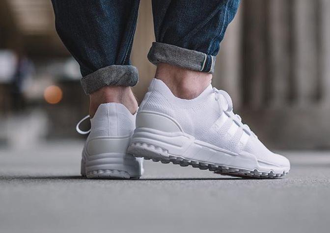 acheter chaussure Adidas Equipment Support 93 Primeknit 'Triple White' (blanche) (2)