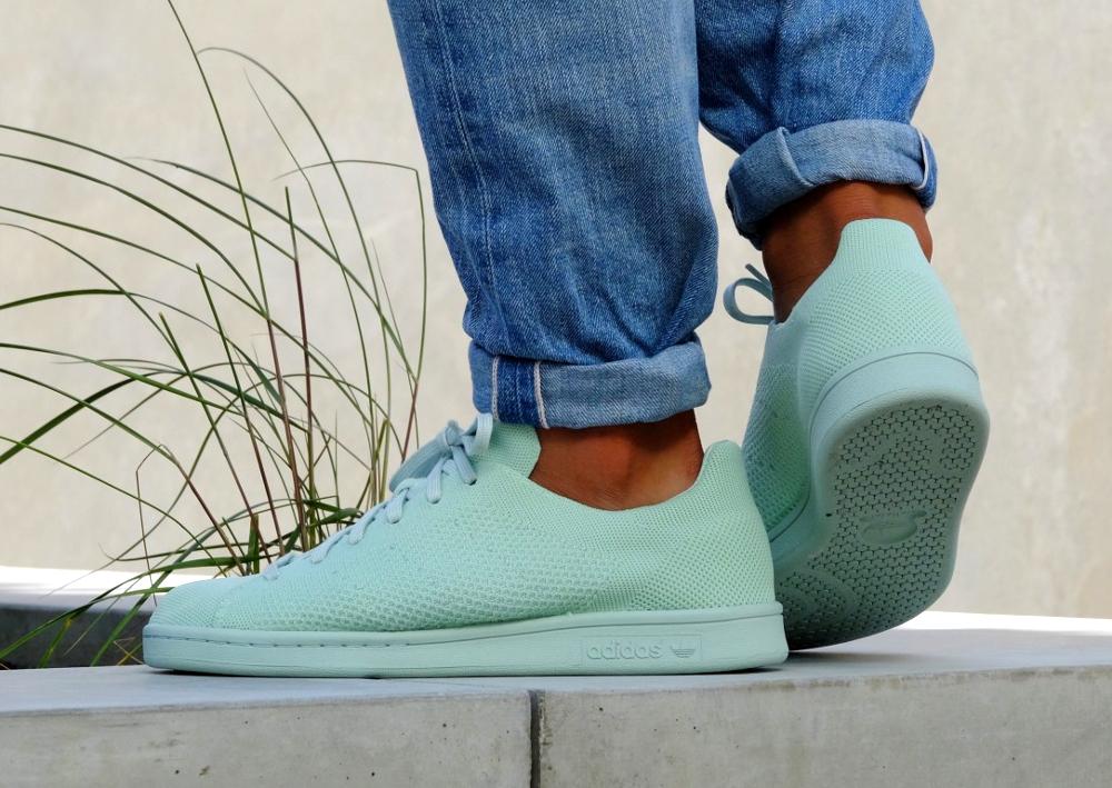 acheter chaussure Adidas Stan Smith PK Primeknit Vapour Green (vert menthe)