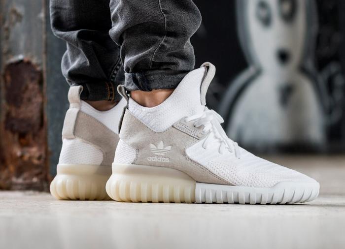 acheter chaussure Adidas Tubular X Primeknit Footwear White (semelle translucide) (1)