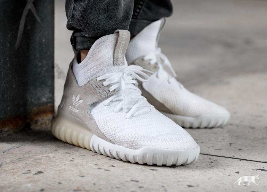 acheter chaussure Adidas Tubular X Primeknit Footwear White (semelle translucide) (3)