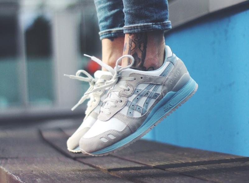 acheter chaussure Asics Gel Lyte 3 Agate White Light Grey (femme) (3)