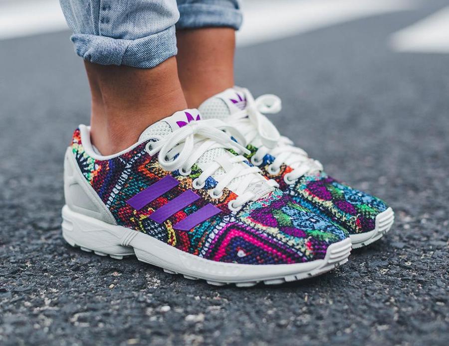 acheter chaussure Farm Company x Adidas ZX Flux W Crochita Mid Grape (femme) (1)