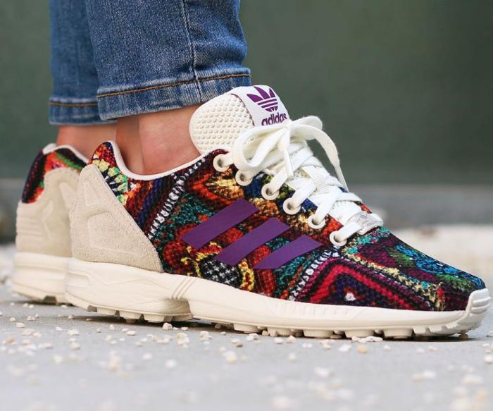 acheter chaussure Farm Company x Adidas ZX Flux W Crochita Mid Grape (2)