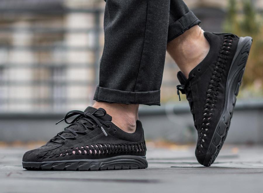 acheter chaussure Nike Mayfly Woven Triple Black (noire) (2)