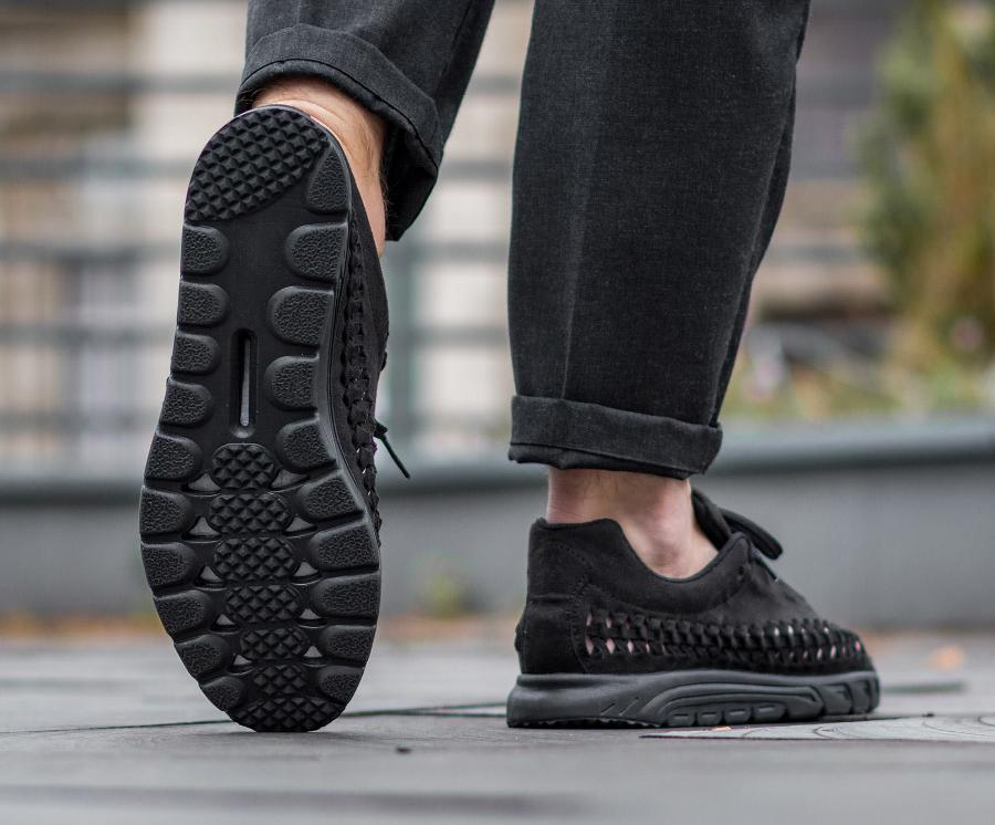 acheter chaussure Nike Mayfly Woven Triple Black (noire) (3)