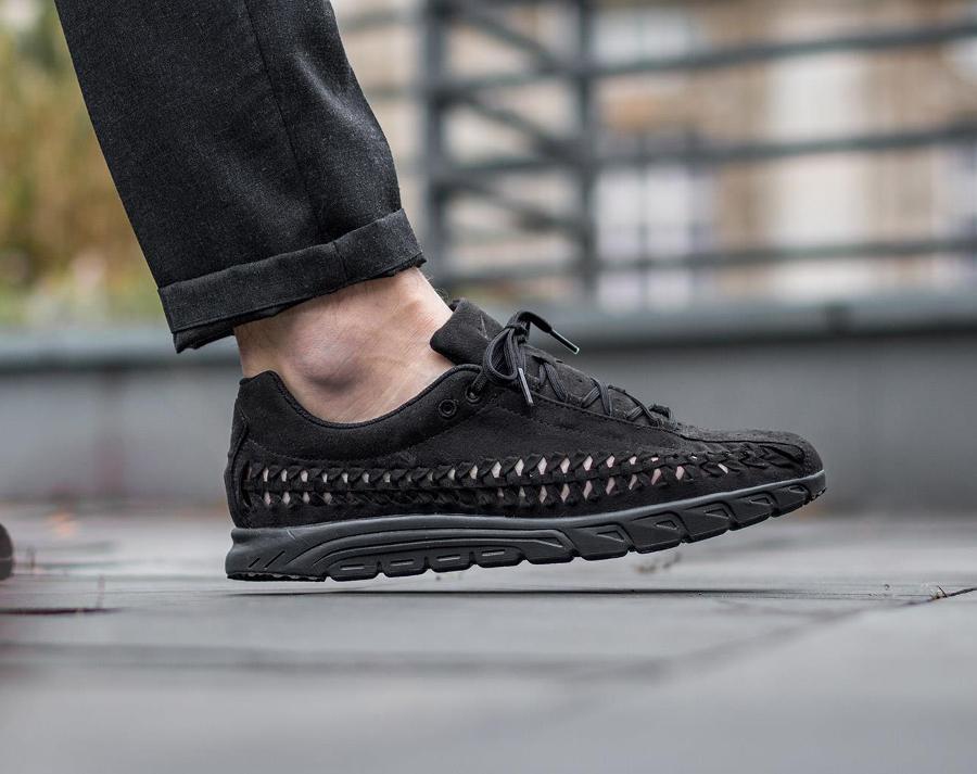 acheter chaussure Nike Mayfly Woven Triple Black (noire) (4)