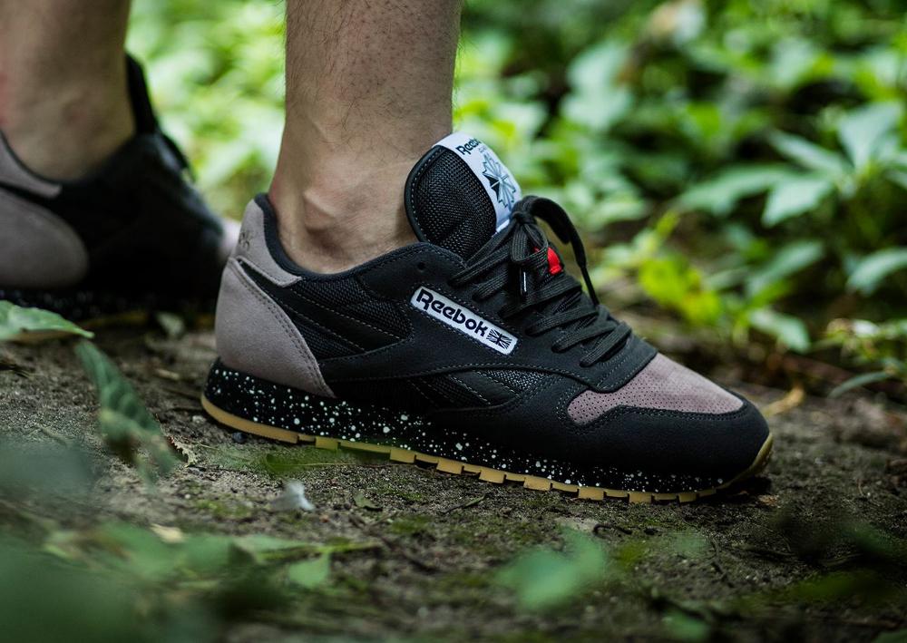 acheter chaussure Reebok Classic Leather SM Speckle Midsole Coal Moondust Gum (3-1)