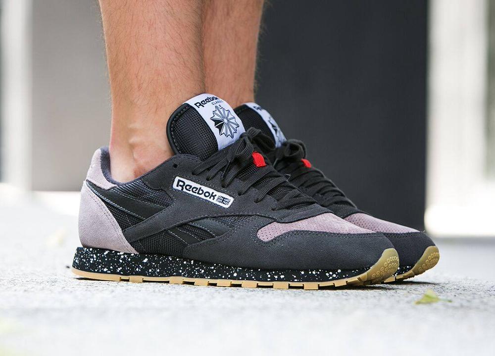 acheter chaussure Reebok Classic Leather SM Speckle Midsole Coal Moondust Gum (3)