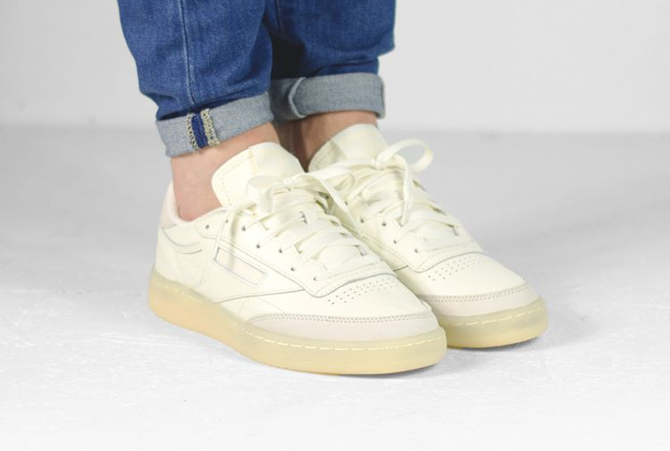 avis Basket Reebok Club C 85 Butter Soft Olympic Cream Washed Yellow (1)