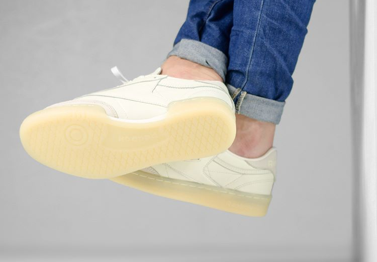 avis Basket Reebok Club C 85 Butter Soft Olympic Cream Washed Yellow (2)