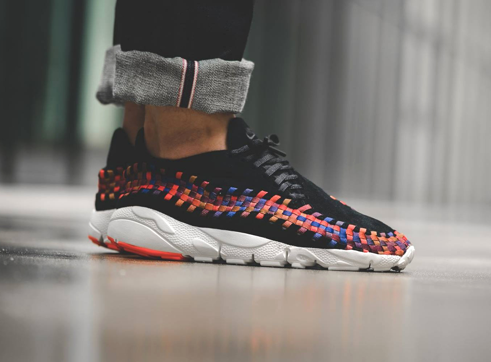 avis basket NikeLab Air Footscape Woven NM Black Rainbow 2016 (4)