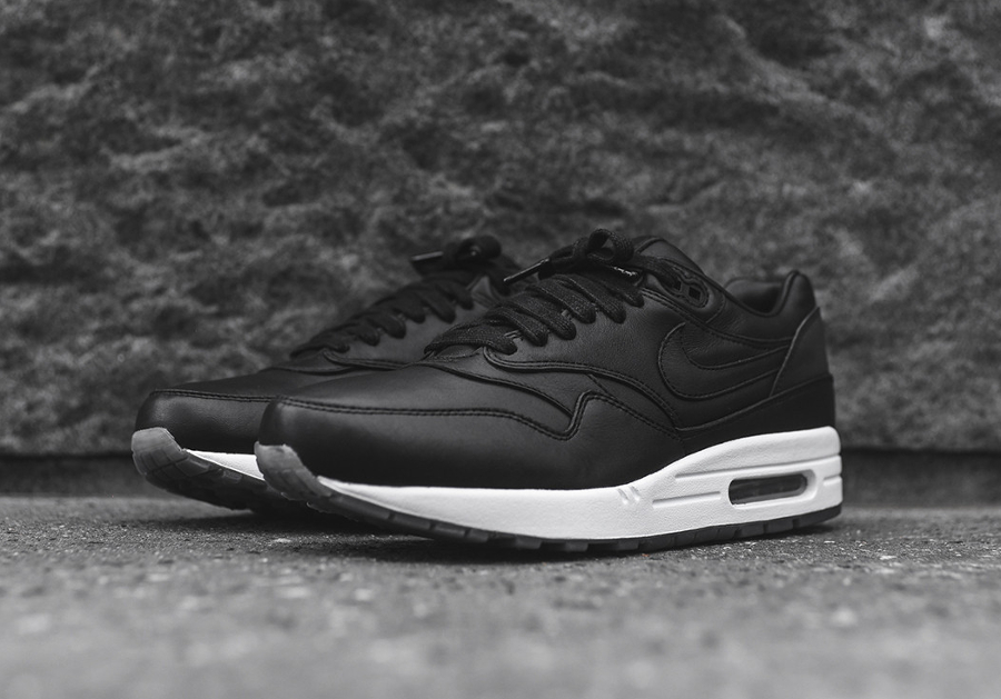 chaussure Nike Air Max 1 Pinnacle Black (cuir premium noir) (4)