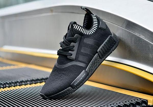Adidas NMD R1 Primeknit Triple Black Japan Boost